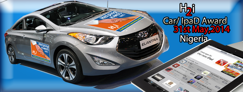 H2i - Helping Hands International Hyundai Elantra and iPad on offer